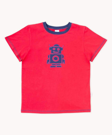 Funky Red Robot T-Shirt