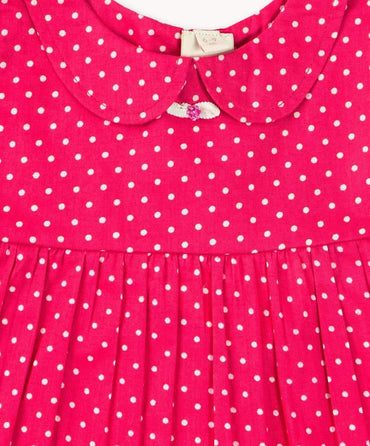 Hot Pink Polkadot Baby Set