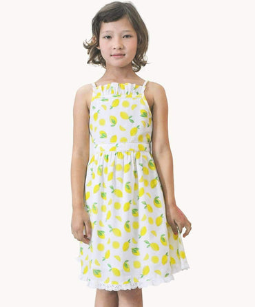 Lemon Frill Sundress