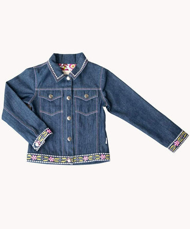 Melody Embroidered Jeans Jacket