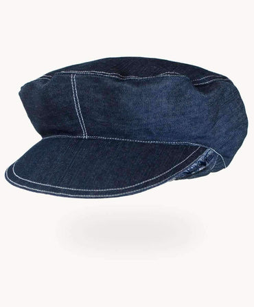 Navy Denim Postman's Cap