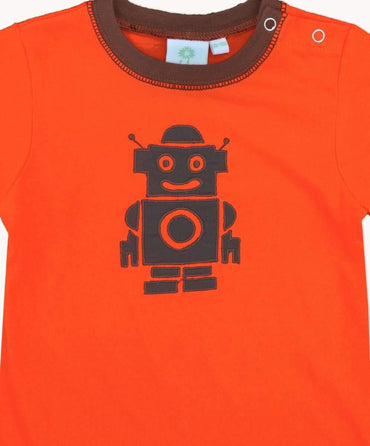 Orange Robot Toddler T-Shirt