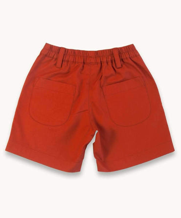 Orange Twill Shorts