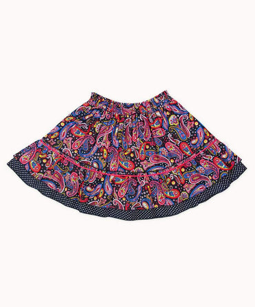 Paisley Party Ruffle Skirt