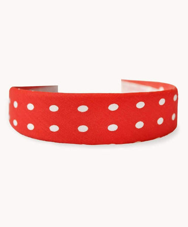 Paprika Polkadot Hair Band