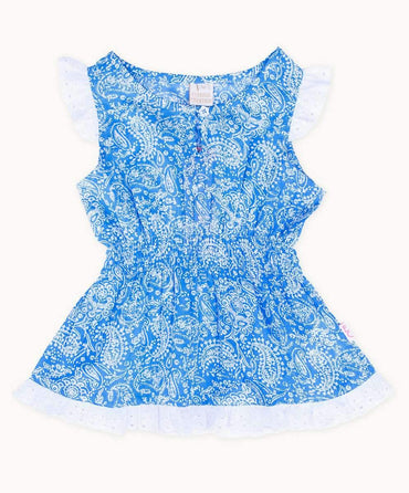 Periwinkle Paisley Toddler Cotton Top