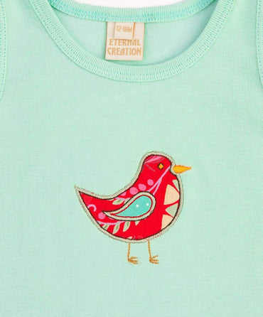 Pretty Mint Bird Tank Top