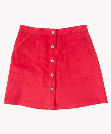 Red Cord A Line Skirt