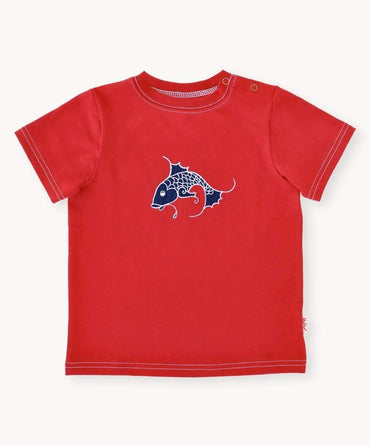 Red Fish Cotton T-Shirt