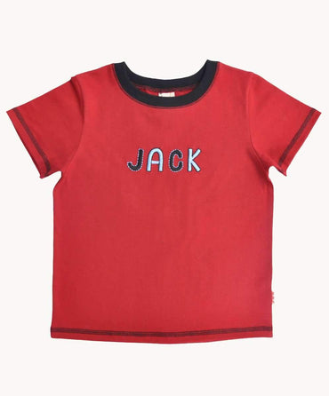 Red Named Cotton T-Shirt