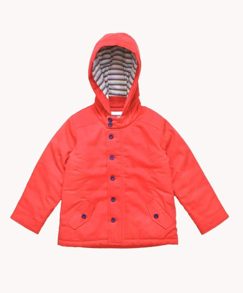 Red Twill Winter Coat