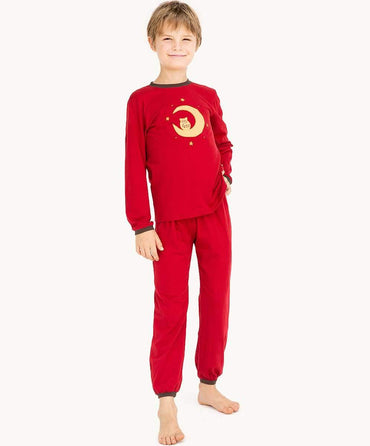 Sleepy Owl Red Pyjamas