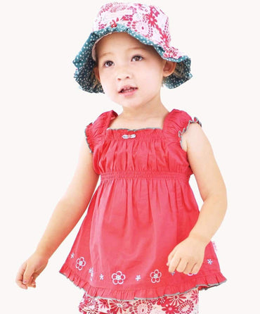 Strawberry Cotton Voile Top