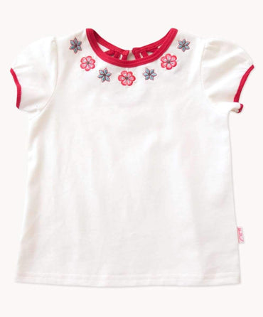 Sweet Ivory Embroidered Toddler Tee