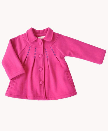 Toddlers Pink Wool Coat