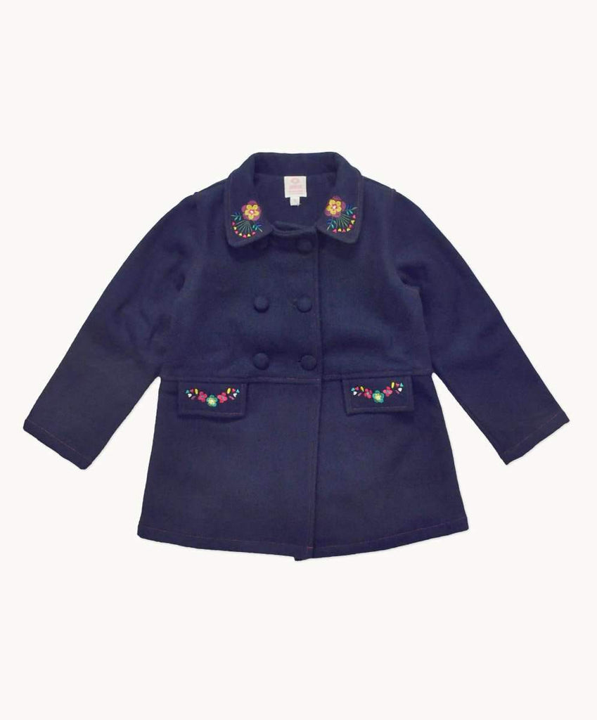 Warm Navy Wool Peacoat