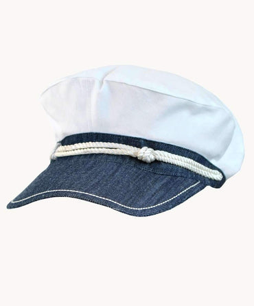 White Captain's Hat