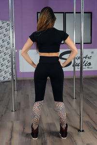 Legging fitness con estampado animal