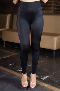 Leggings negro con decoración