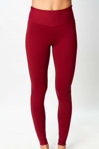 Leggins de Yoga color burdeos