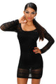 Vestido negro con body interno