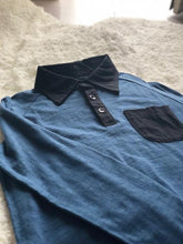Load image into Gallery viewer, Blue Collared Boys Shirt