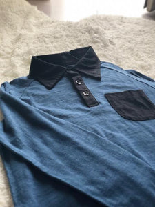 Blue Collared Boys Shirt