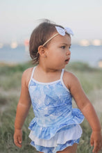 Load image into Gallery viewer, Blue Hawaii Ruffle Swim Suit