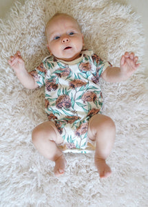 Botanical Baby Short Sleeve Bodysuits