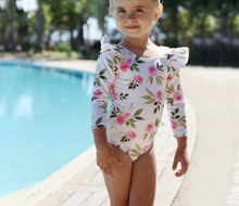 Load image into Gallery viewer, Girls Floral Swimsuit