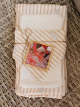Load image into Gallery viewer, Jersey wrap, bib and burp cloth set - silver flamingo