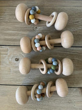 Load image into Gallery viewer, Wood and Silicone Baby Rattle