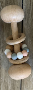 Wood and Silicone Baby Rattle