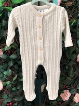 Load image into Gallery viewer, Korango Cable Knit Beige Romper