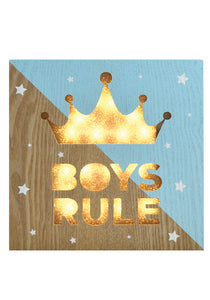 Boys Rule Light Box