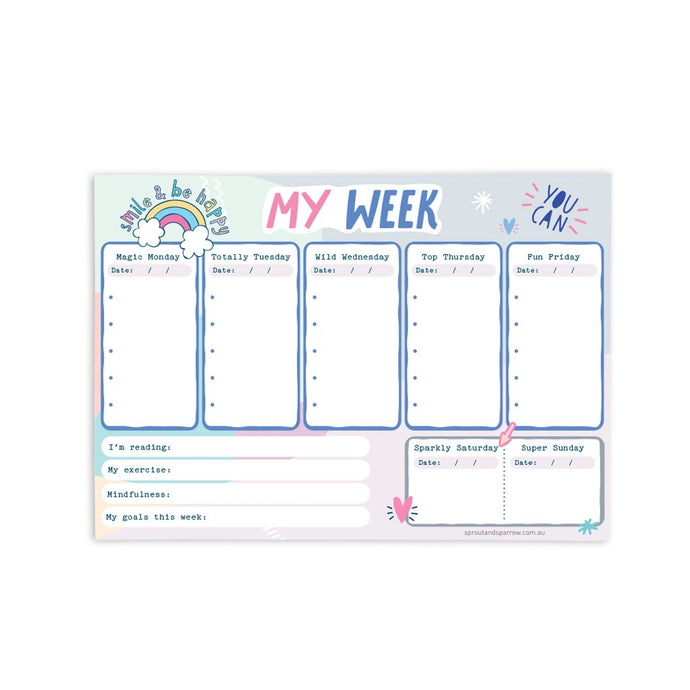 My Week Planner Notepad
