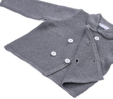 Load image into Gallery viewer, Unisex Grey Button-up Coat