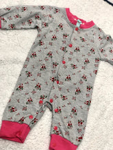 Load image into Gallery viewer, Grey Cherry Romper