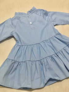 Baby Blue High-neck Dress
