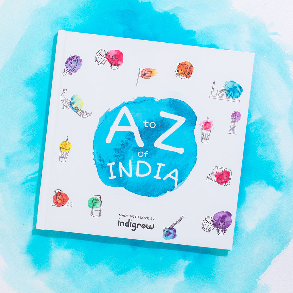 Indian Book for kids. Alphabet Story Book from indigrow. A to Z of India , great for Indian gifts