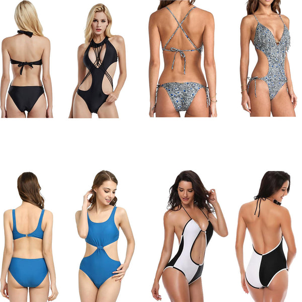 One piece swimwear styles and types