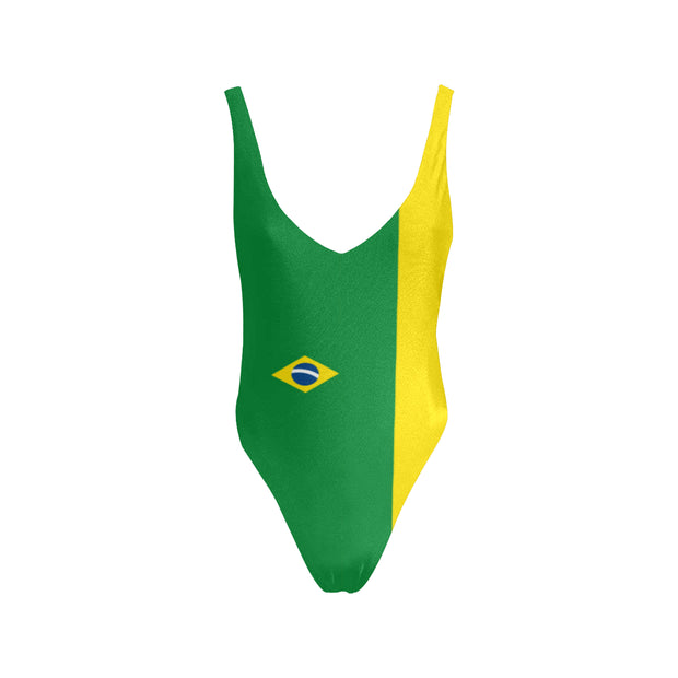 Sexy one piece swimsuit brazil flag - bikini149.com