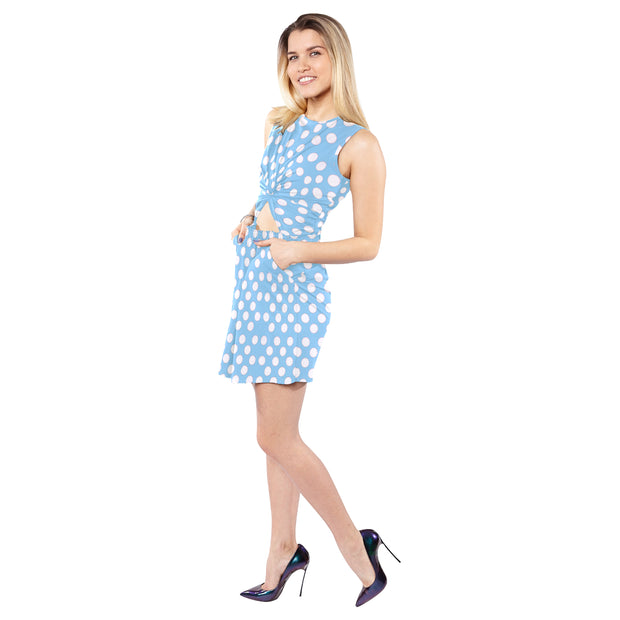 Blue Polka Dot Belly Dress - bikini149.com