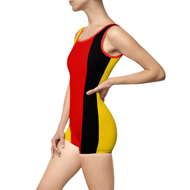 Vintage Germany Flag Swimsuit