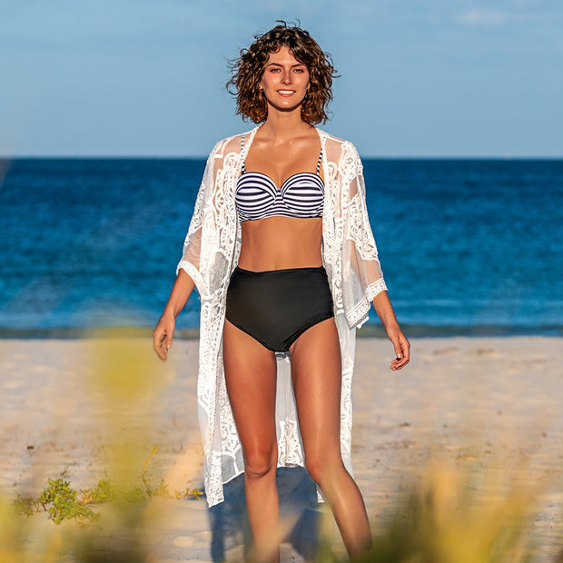 Black Sunflower Crochet Bikini Cover Up - bikini149.com