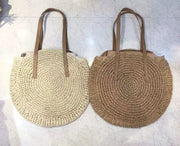 Straw Beach Bag Vintage Handmade