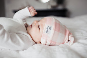 newborn top knot hat - London