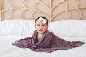 Swaddle Blanket - Plum