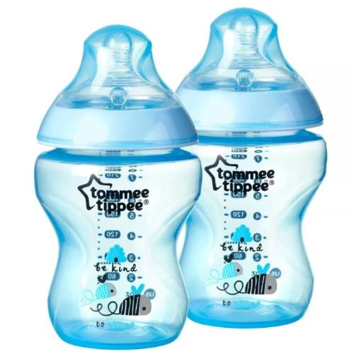Tommee Tippee - 2 Decorated Bottles 9oz Azul