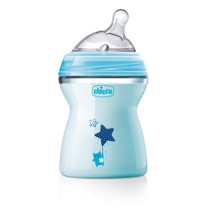 Chicco - Biberón Natural Feeling - Azul, 250 ml
